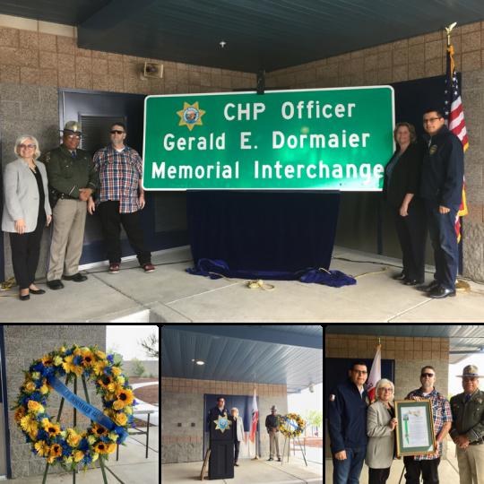 CHP Officer Gerald E. Dormaier Memorial Interchange Dedication Ceremony in Bakersfield