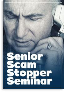 Assemblyman Salas senior scam stopper graphic