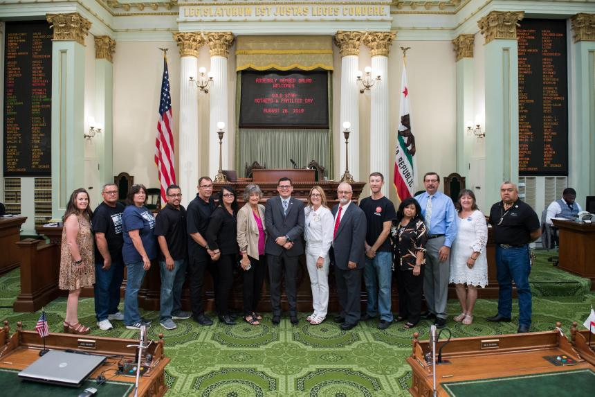 Assemblymember Salas Honors Gold Star Mothers & Families