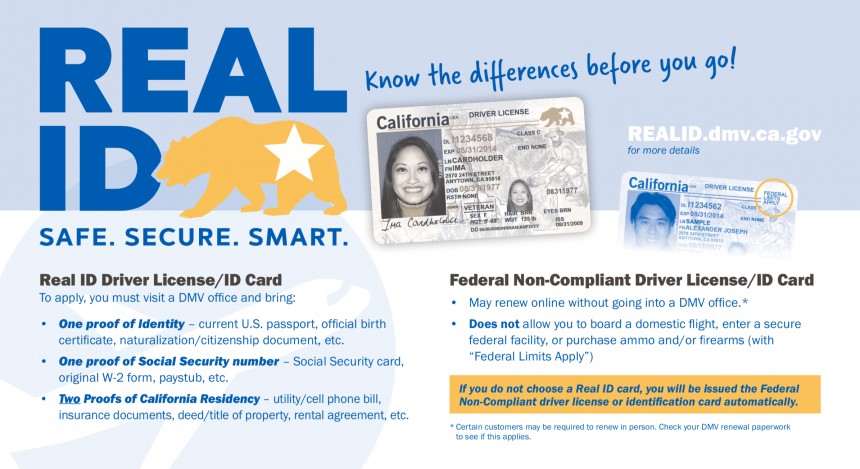 Real ID Information Card Graphic