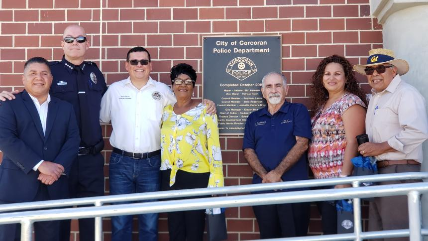 Assemblymember Salas, Corcoran Police Department and community leaders celebrate new headquarters