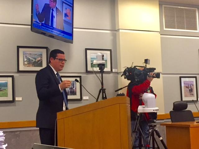 Assemblymember Salas testifies at CWC hearing in support of water projects for the Central Valley