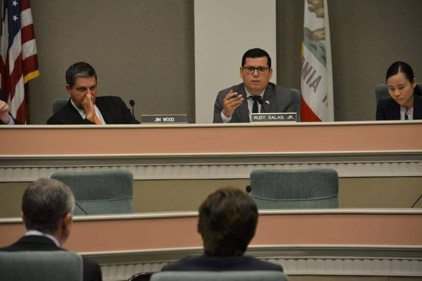 Assemblymember Rudy Salas and Assemblymember Jim Wood hear testimony during joint oversight hearing