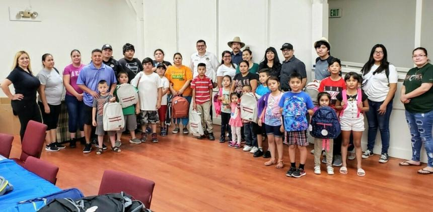 Assemblymember Salas Hosts Successful Backpack & Shoe Giveaway
