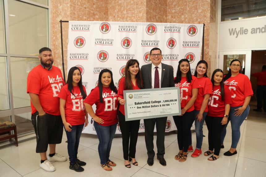Assemblymember Salas presents  million check to Bakersfield College for workforce development