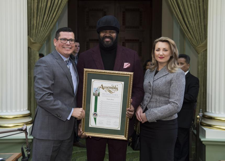 Local Jazz Legend Gregory Porter Honored at State Capitol