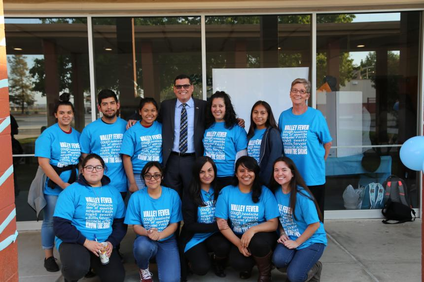 Assemblymember Rudy Salas attends a valley fever symposium