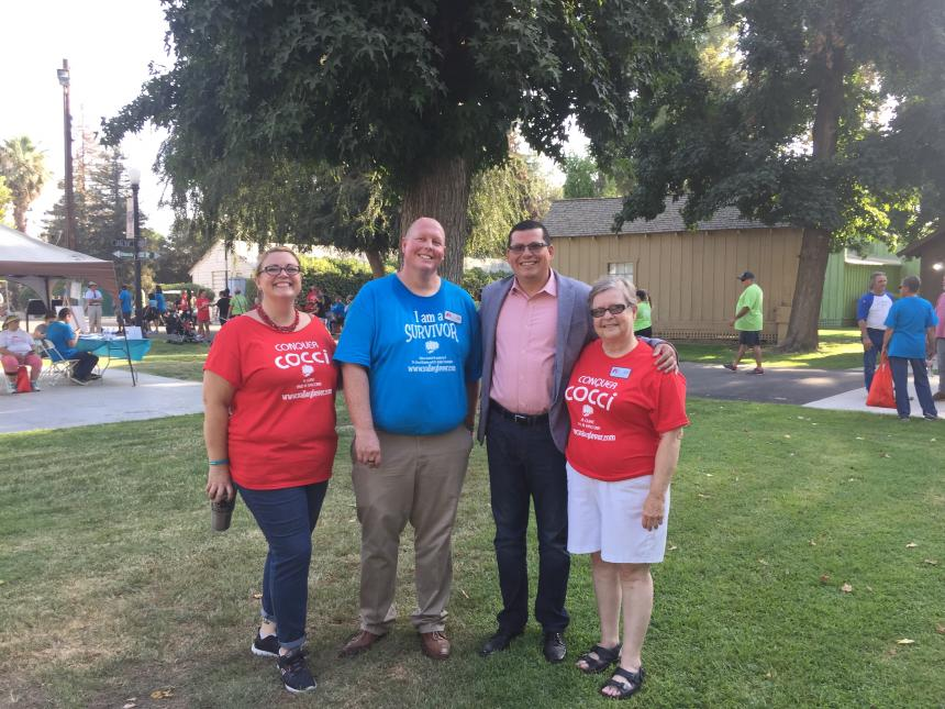 Assemblymember Rudy Salas with Rob Purdie at the annual Valley Fever Walk