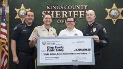 Assemblymember Salas presents check at Kings County Public Safety Infrastructure Funding Press Conference on 7/23