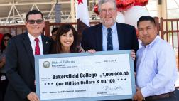 Assemblymember Salas Presents Check for $1,000,000.00 to Bakersfield College