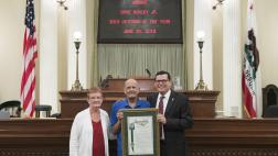 Assemblymember Salas Presents Resolution to Dave Borcky, Jr., 2018 Veteran of the Year