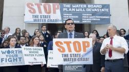 Assemblymember Salas at Water Grab Rally in Sacramento